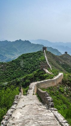 Hiking the Great Wall of China.