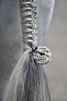 ...once my hair gets long Horse tail detail | via The Horse Rider's Journal on FB braided hair fishtail with bun at bottom