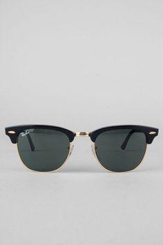 Ray Ban Sunglasses Clubmaster Sunglasses in Ebony $145 at www.tobi.com