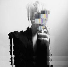 unbenannt by htor Glitch Art, Photomontage, Jean Paul Sartre, Art Graphique, Grafik Design, Art Plastique, Double Exposure, Portrait Art, Poster