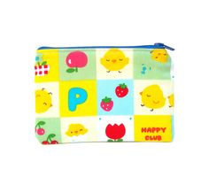 Mini Zipper Pouch / Cute Makeup Bag in Happy Chicks.