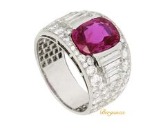 Bulgari Burmese ruby and diamond ring, circa 1935. from Berganza London Hatton Garden