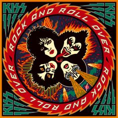 Kiss - Rock and Roll Over - 25 Greatest Hard Rock and Heavy Metal Album Covers Kiss Album Covers, Greatest Album Covers, Rock Album Covers, Classic Album Covers, Rock Roll, Kiss Rock And Roll, Gene Simmons, Kiss Musik, Lps