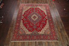 "Antique Geometric 10x13 Tabriz Persian Oriental Area Rug Carpet 12' 5"" x 9' 8"" - http://home-garden.goshoppins.com/rugs-carpets/antique-geometric-10x13-tabriz-persian-oriental-area-rug-carpet-12-5-x-9-8/"