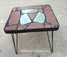Accent Tables, Recycled Materials, Natural Stones, Folk Art, Pattern, Furniture, Home Decor, Decoration Home, Popular Art