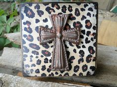 Cross Block Art Cheetah Print by MagnoliaMarket on Etsy, $12.00
