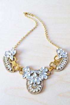 Antique Crystal Bib Necklace | STYLEADDICT.COM.AU