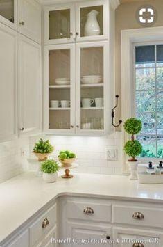 Kitchen without upper corner cupboard