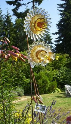 Glass Garden Flowers by Washington Artist MIKE URBAN