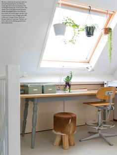 Sasja and Michiel Diy Bett, Attic Renovation, Garden Living, Home Office, Master Bedroom, Kids Room, Sweet Home, New Homes, Desk