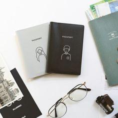 Men Passport Case Beautiful Deep Forest Waterfall Stylish Pu Leather Travel Accessories Girls Cover Passport Holder For Women Men