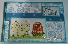 Little Blue Button Stamps: Easter crew