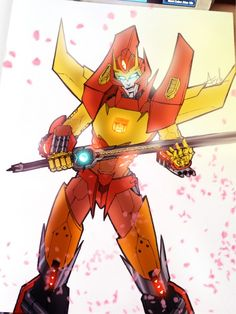 Rodimus Prime - Wait, why does he have a Great Sword?