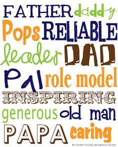 {FREE} Father's Day Subway Art Printable