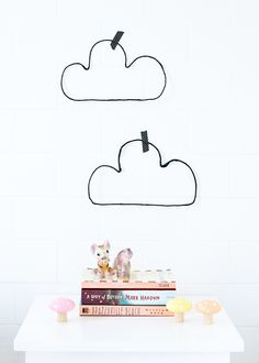 DIY Wire Clouds // Love From Ginger - super easy