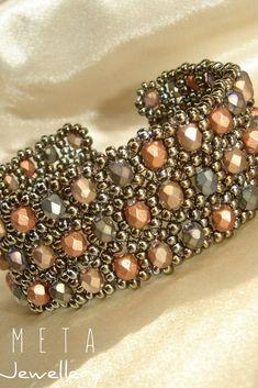 Autumn color handmade beaded bracelet Beaded Jewelry, Beaded Bracelets, Autumn, Handmade, Color, Schmuck, Hand Made, Pearl Bracelets, Fall