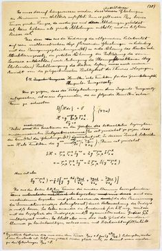 Einstein's Relativity Manuscript (extract)
