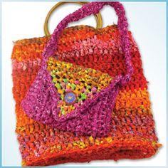 Freestyle Bias Strip Crochet Bag