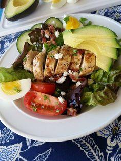 Chicken Cobb Salad  http://cleanfoodcrush.com/chicken-cobb-salad