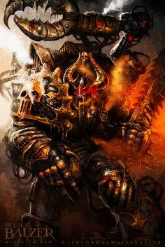chainsword chaos helgecbalzer iron_warriors space_marines warsmith