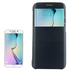 Black Cashmere Caller ID Display Samsung Galaxy S6 Edge Case