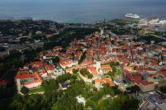 <3 Wonderful Aerial View of Old Town in Tallinn, Estonia #COLOURFULESTONIA  #VISITESTONIA