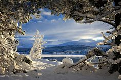 Loch Morlich and the Cairngorms, Scotland - my first skiing adventures