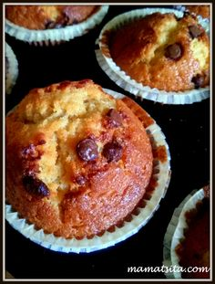stuffed vanilla muffins with chocolate chips