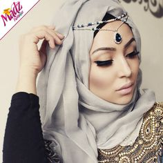 Fatiha World Tear Drop Headpiece Crystal rhinestone Forehead Headchain Bindiya matha patti Dangle Hijab Pin indian wedding bridal pakistani jewellery