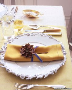 Back to Table Decorations  Pinecone Napkin Holder