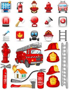 Firefighter Vector Symbols