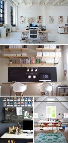 black wall upon the desk : good idea !