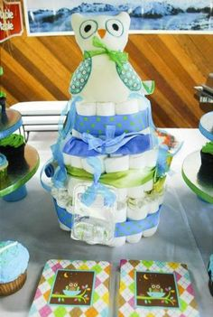 Hostess with the Mostess® - Owl Baby Boy Shower