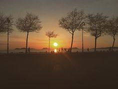 Echando un poco de menos el verano y el Atardecer en la playa de Samil Galicia España. #atardecer #sunset