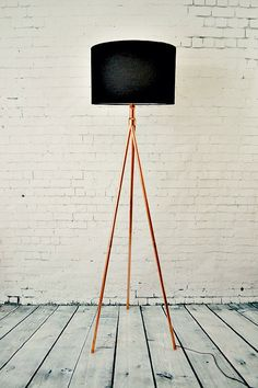 Handmade Copper Tube Tripod Tall Standing by AtDCopperCreations