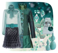 """Jade dream"" by mariloli1303 ❤ liked on Polyvore featuring Brian Yates, Desigual, Blumarine, Junya Watanabe, The 2nd Skin Co., Nila Anthony, Nine West and Bling Jewelry"