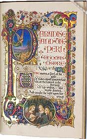 Illuminated 1400's Bible manuscript