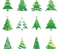 Christmas tree logotype designs vector