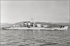 The powerfully sexy Littorio on her sea trials in the Gulf of Genoa, 1939. Note…