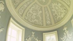 Eighteenth century domed ceiling with rococo plasterwork at Farnborough Hall. © NTPL/Nick Meers