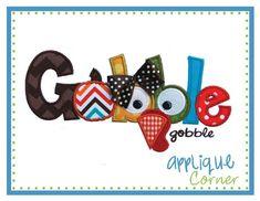 Gobble Gobble Applique Design