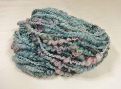 Handspun Yarn Bulky Coil Spun Art Yarn with Locks by by Autumnrose