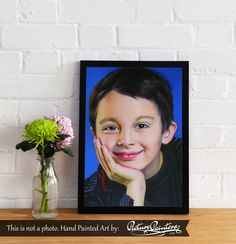 Paintings of kids are some of our absolute favourites. The client actually requested three different photos of the same shoot to be painted - this was our favourite.
