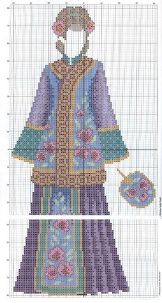0 point de croix femme chinoise - cross stitch chinese lady part 2
