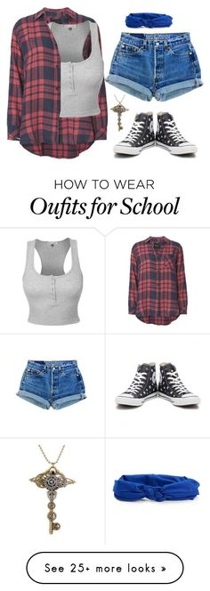 """Untitled #270"" by hamiltrashtm on Polyvore featuring Rails, LE3NO, Converse and Aéropostale"