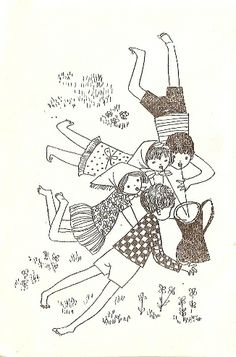 hanna czajkowska dzieci z bullerbyn Wolf Girl, Ink Illustrations, Naive, Constellations, Childrens Books, Folk, Artsy, Clip Art, Inspiration