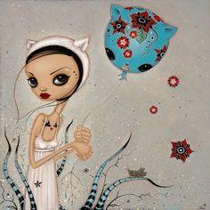 Awesome art by Caia Koopman via Spoke Art Random amazing Spoke Art, Indie Art, Lowbrow Art, Pop Surrealism, Affordable Art, Whimsical Art, Cute Illustration, Box Art, Art World