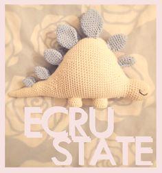 #Crochet toy #Toys for baby boys #ECRUSTATE #Free Pattern #Dinosaur #Stegosaurus #Plush
