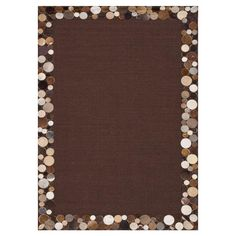 Sisal rug bordered by natural cowhide.   Product: RugConstruction Material: Natural cowhide and sisalColor...