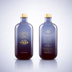 Stare the Blind Tiger in the eye & you'll be roaring for more. Tonic Drink, Gin And Tonic, Alcohol Bottles, Gin Bottles, Bottle Packaging, Brand Packaging, Gins Of The World, Vodka, Tequila